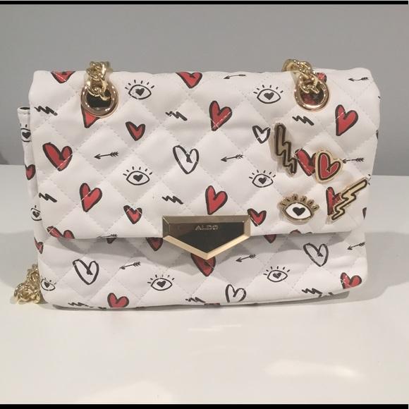 c1dbc0d8ea Aldo Bags | Valentine Bag Print Hearts Nwot | Poshmark